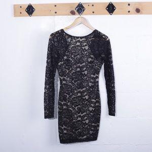 Windsor Long Sleeve Black Lace Cocktail Dress